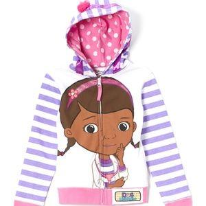 NWT Disney's Doc McStuffins Stripe Hoodie Jacket